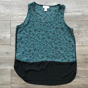 Loft floral tank top, sleeveless blouse